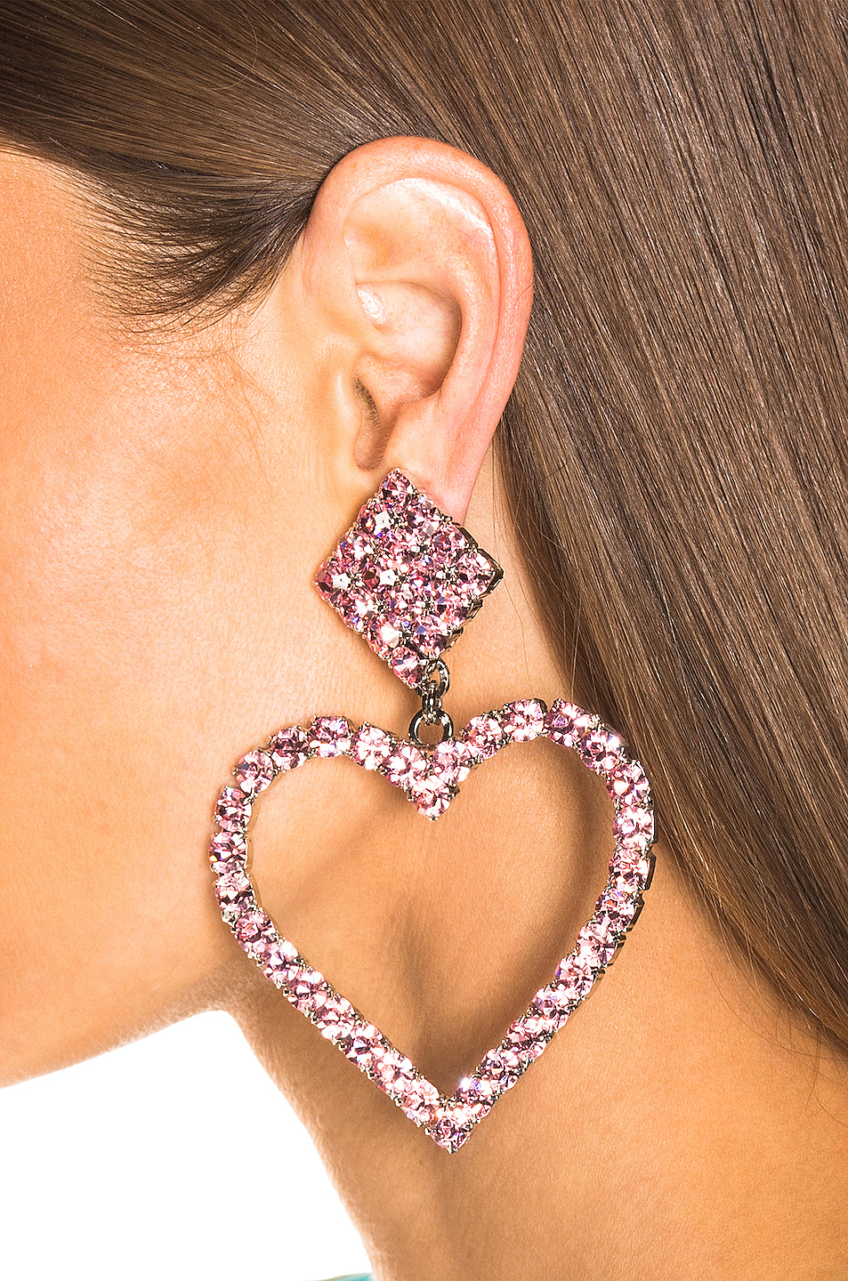 Alessandra Rich Heart Earrings