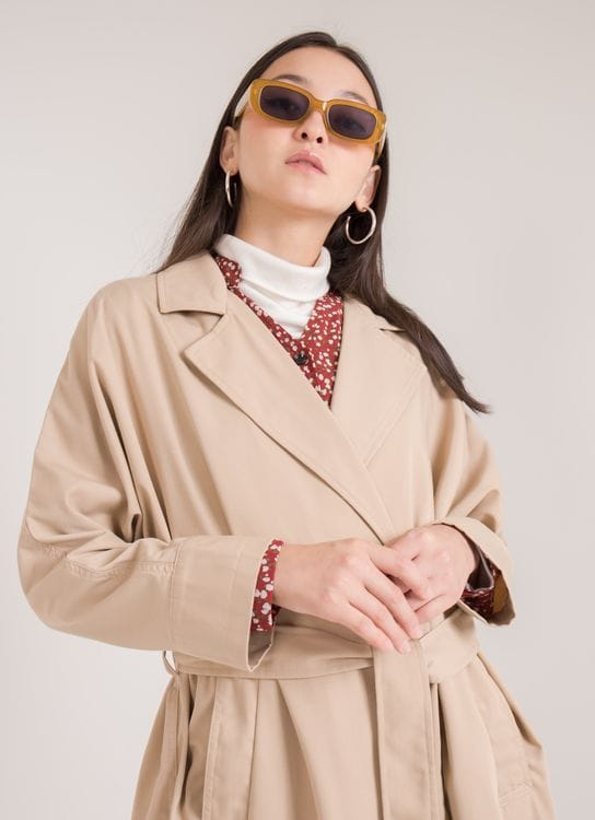 American Holic Wenda Trench Coat - Beige