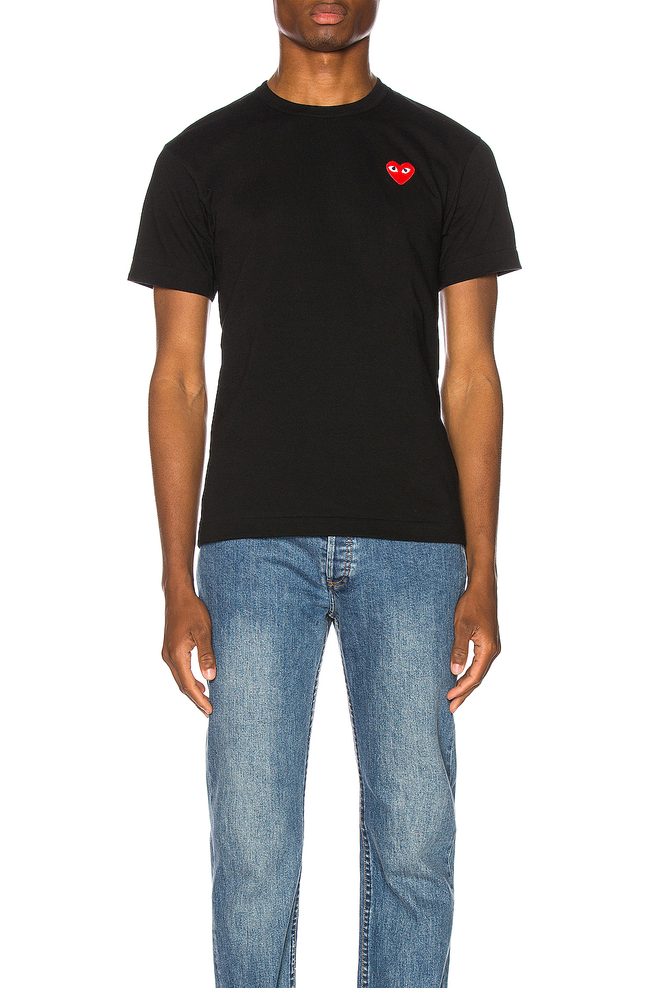 84185cca0c Jual Comme Des Garcons PLAY Small Red Heart Striped T-Shirt - 100 ...