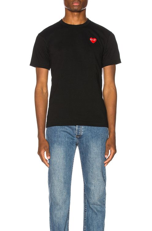 Comme Des Garcons PLAY Red Heart Tee