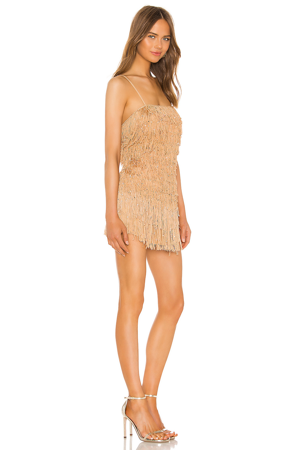 NBD Sunrise Fringe Mini Dress