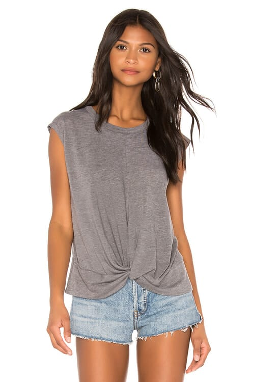 Chaser Twist Front Hi Lo Tee