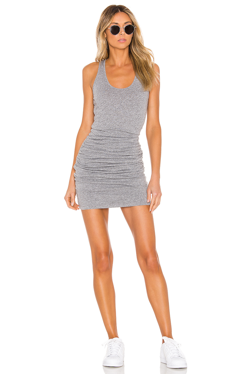 MONROW Tank Shirred Dress