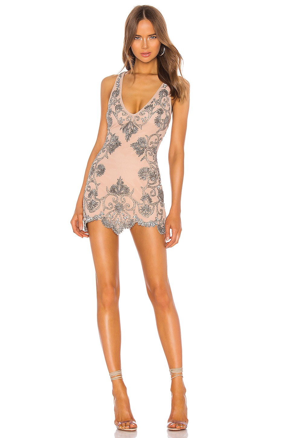 X by NBD Rocca Embellished Mini Dress