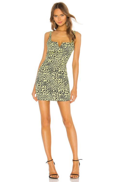 LIKELY Mini Leopard Constance Dress