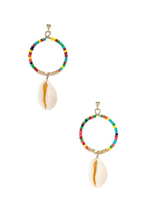 EIGHT by GJENMI JEWELRY Rainbow Beaded Shell Earring