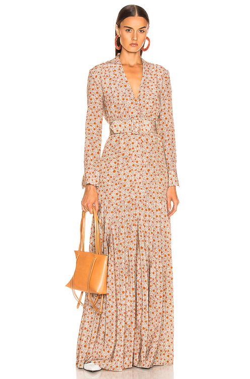 Rebecca De Ravenel Long Field Dress