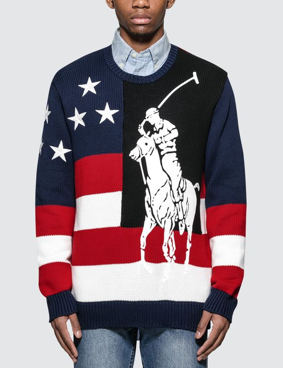 Polo Ralph Lauren Graphic-intarsia Cotton-knit Sweater