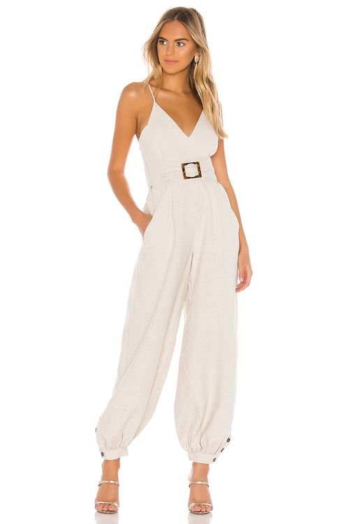 Shona Joy St. Martin Harem Jumpsuit with Belt