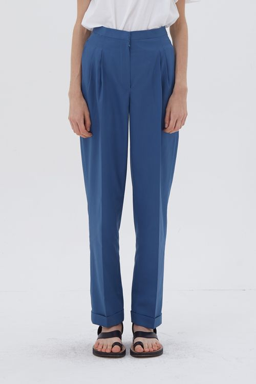 Shopatvelvet Tier Trousers Blue