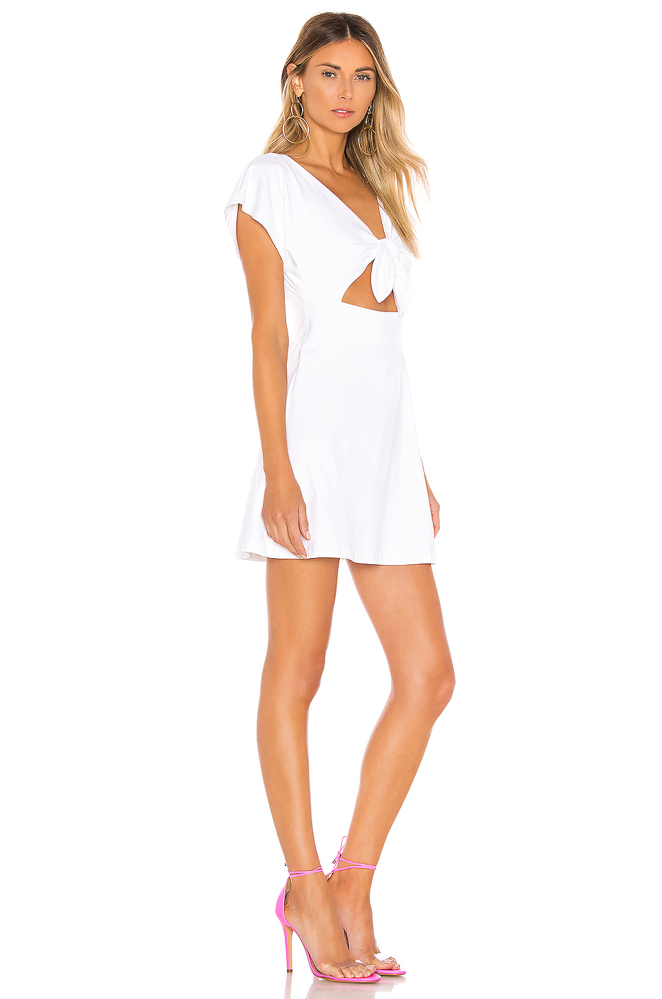 Susana Monaco Bow Front Dolman Mini Dress