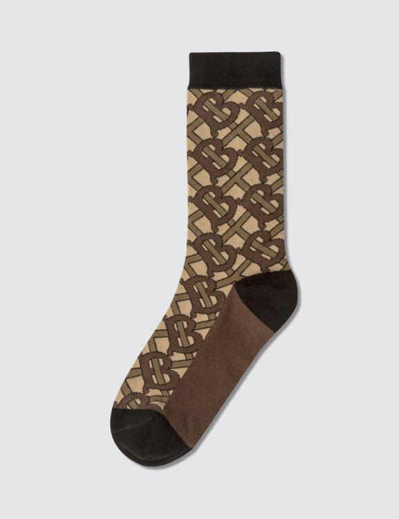 Burberry Monogram Striped Socks