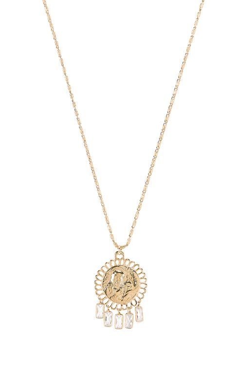 Lili Claspe Baguette Coin Necklace