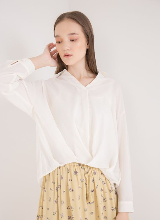 Earth, Music & Ecology Kezia Top - Ivory