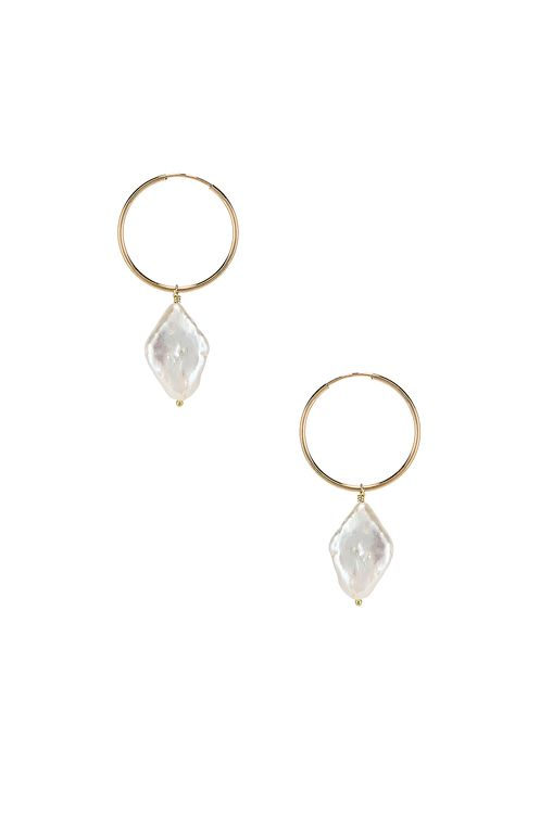 Paradigm Diamond Pearl Hoops