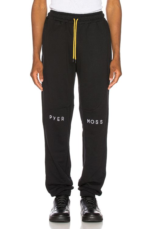 Pyer Moss Embroidered Logo Slouchy Pant