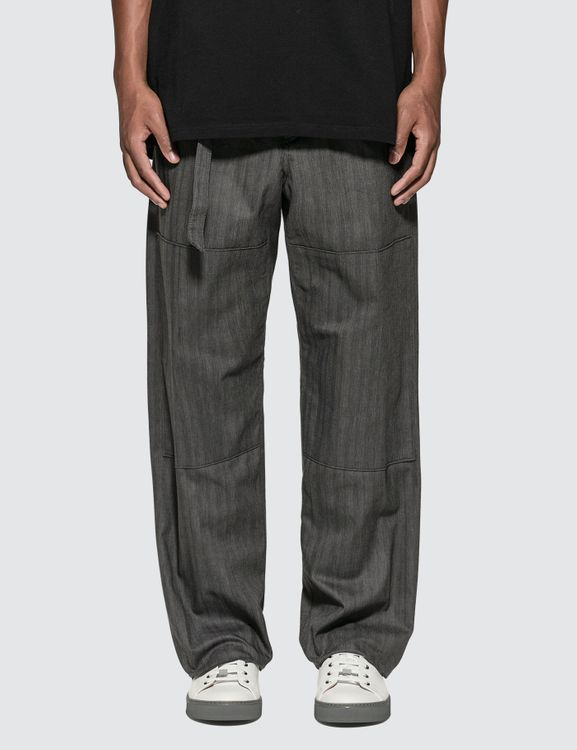 Lanvin Wide Pants with Adjustable Belt