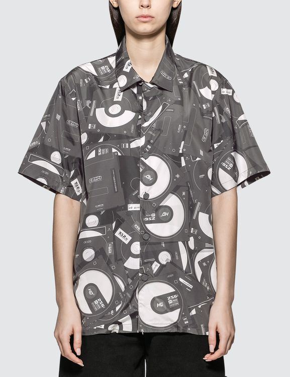 C2H4 Los Angeles Disposed Flashdrive Full Print Short Sleeve Shirt