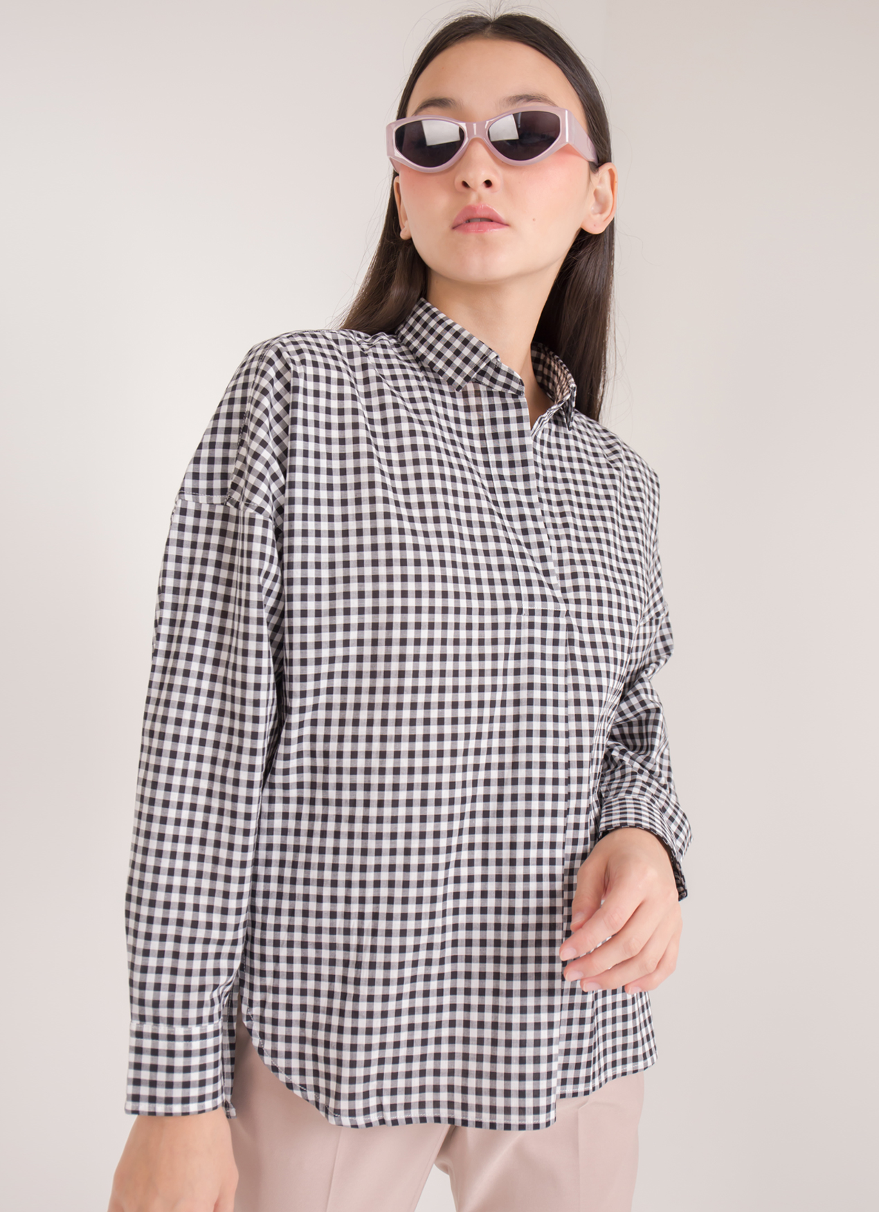 Earth, Music & Ecology Veronica Top - Check Black