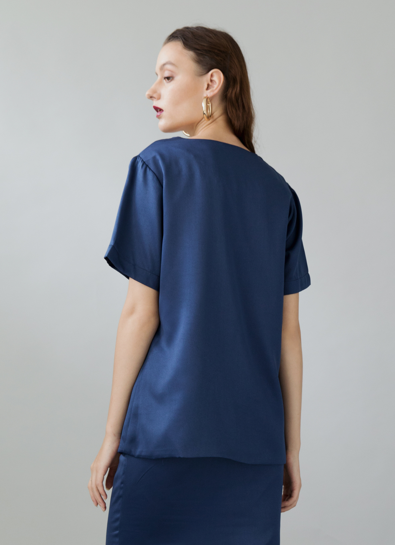ATS THE LABEL Reggie Top - Navy