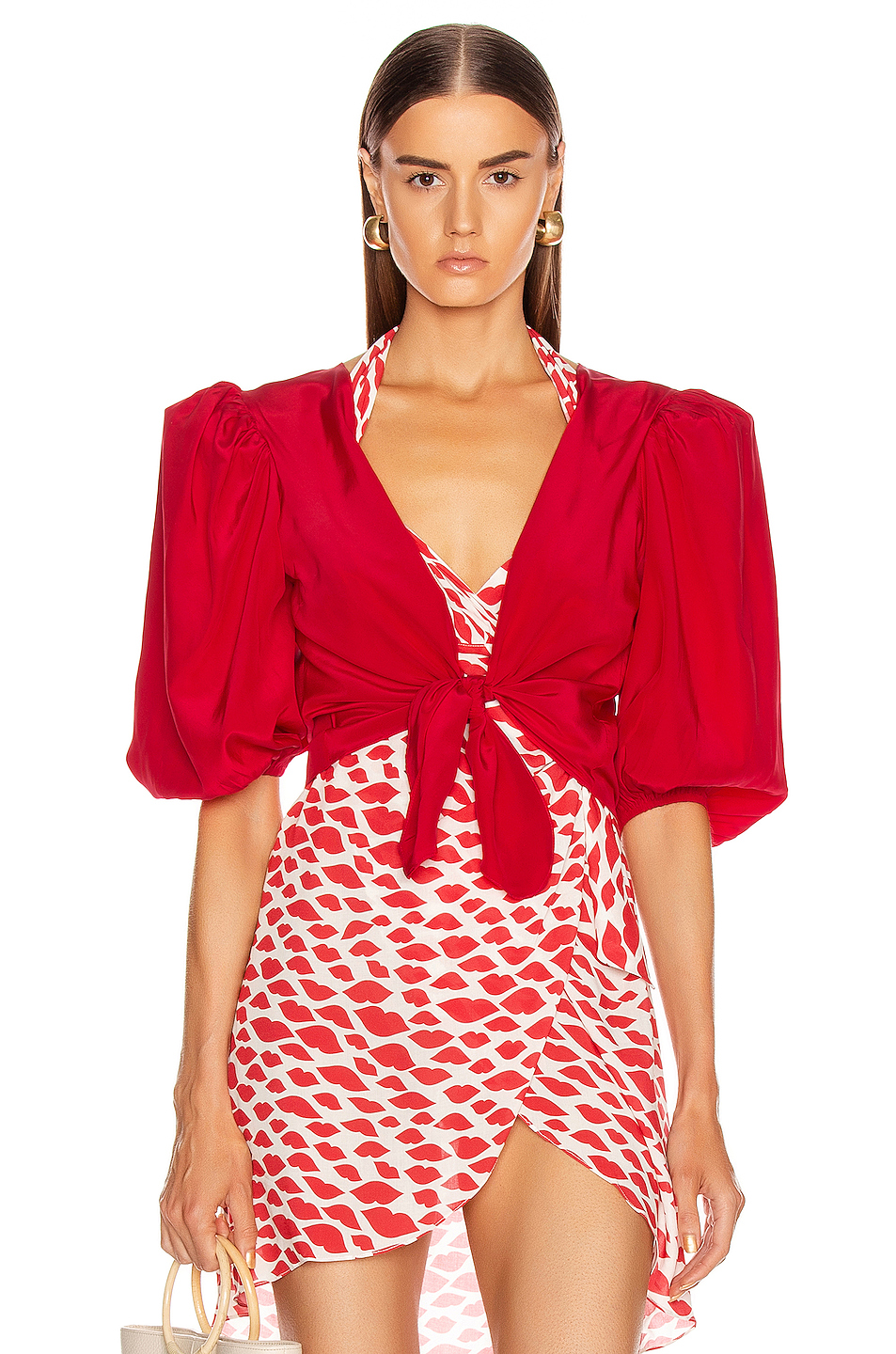 ADRIANA DEGREAS Tied Bacio Shirt