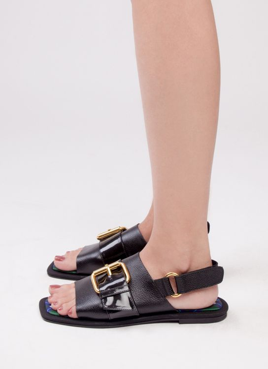 Mader Midnight Raw Square Toe - Black
