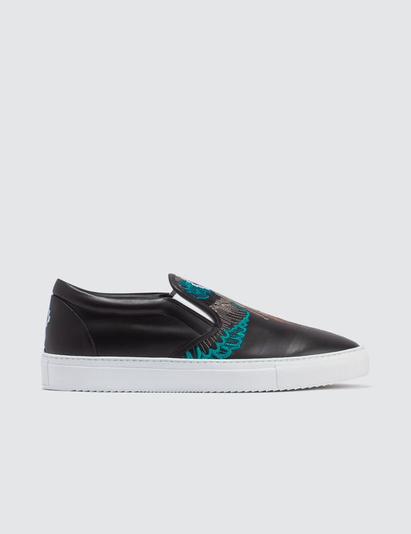 MARCELO BURLON Turquoise Wings Slip-on Sneaker