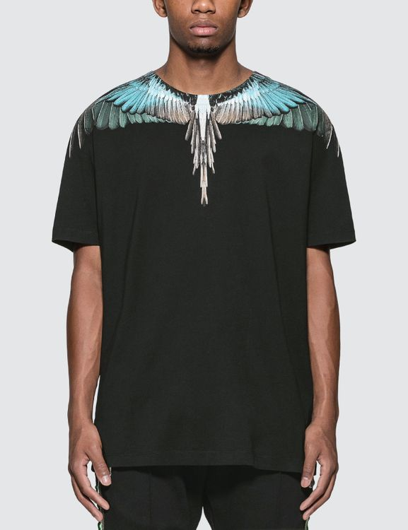 MARCELO BURLON Turquoise Wings T-Shirt