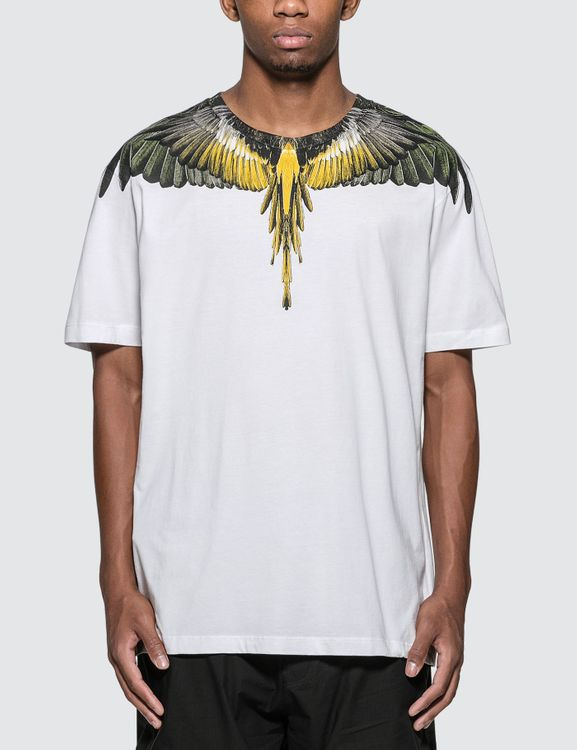 MARCELO BURLON Yellow Wings T-Shirt