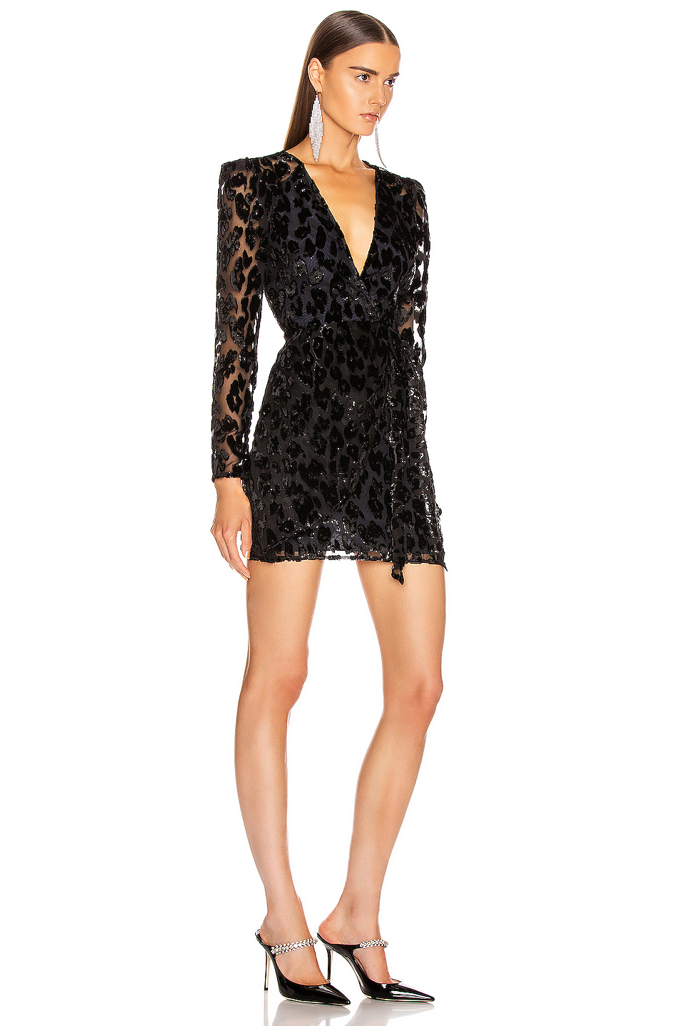 self-portrait Metallic Leopard Mini Dress