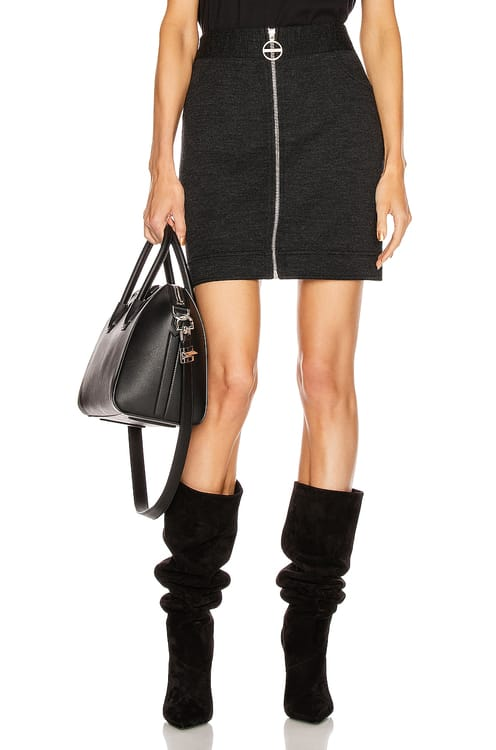 Givenchy Mini Pencil Zipped Skirt