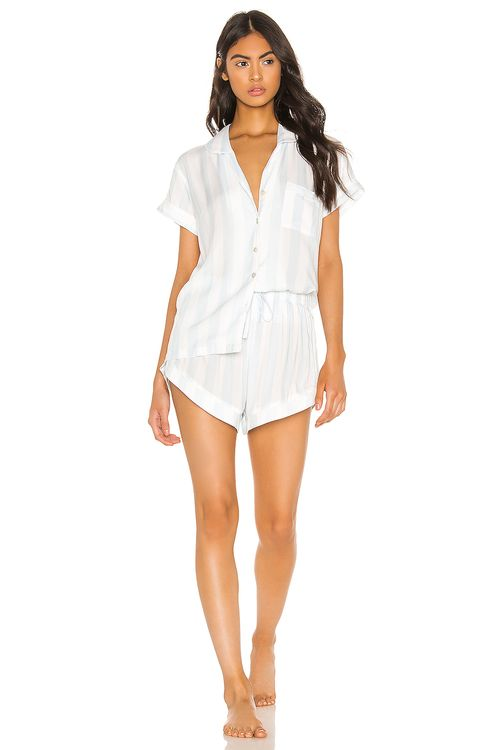homebodii Blue Stripe Short PJ Set