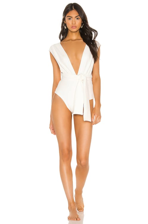 HAIGHT. Band V Crepe Maillot One Piece