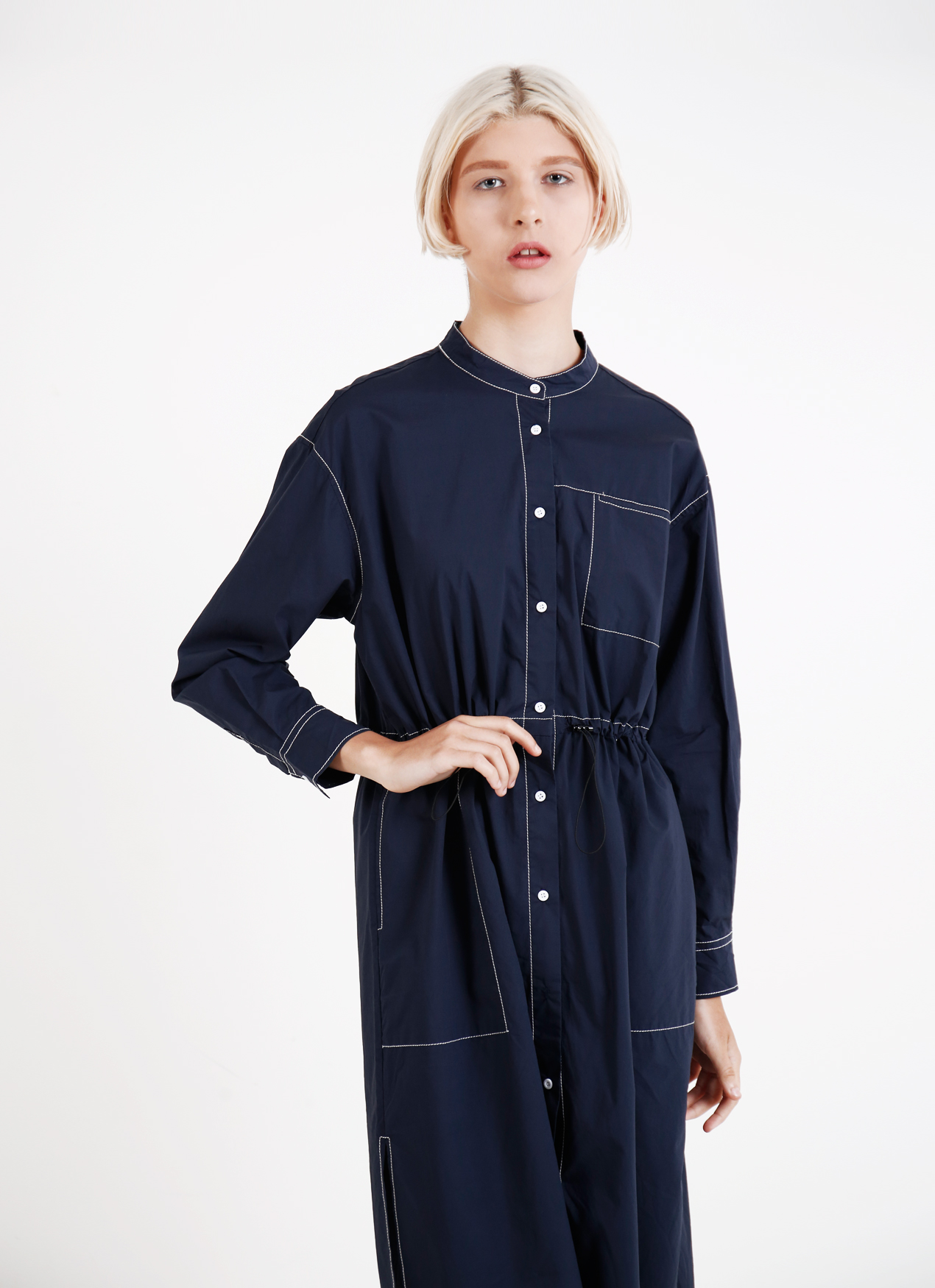 BOWN Mona Dress - Deep blue