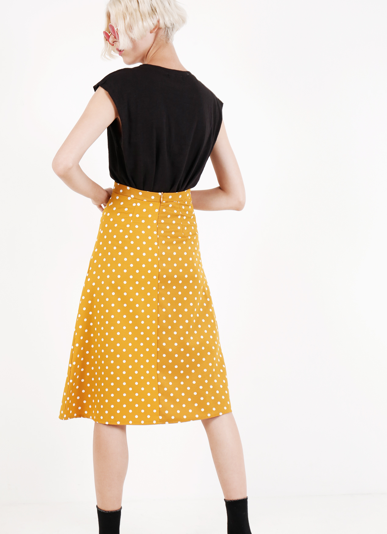 BOWN Hilarie Skirt - Yellow