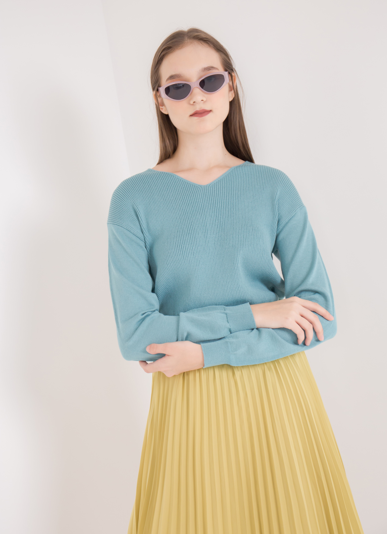 Green Parks Gia Sweater - Green