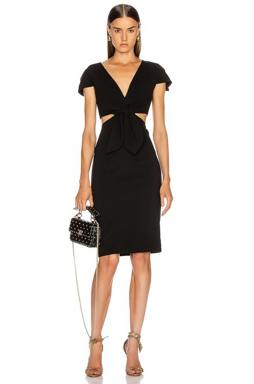 Haney Phoebe Deep V Tie Dress