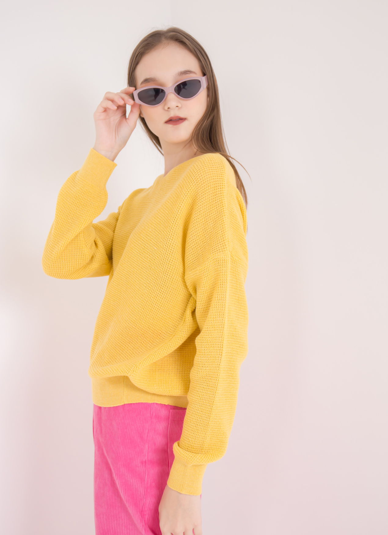Green Parks Beatrice Sweater - Yellow