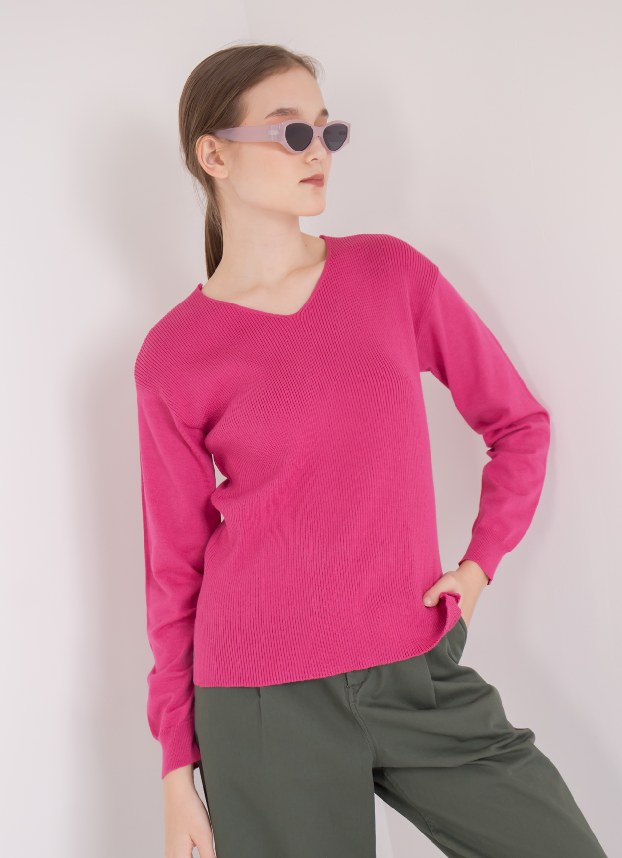 Green Parks Gia Sweater - Pink