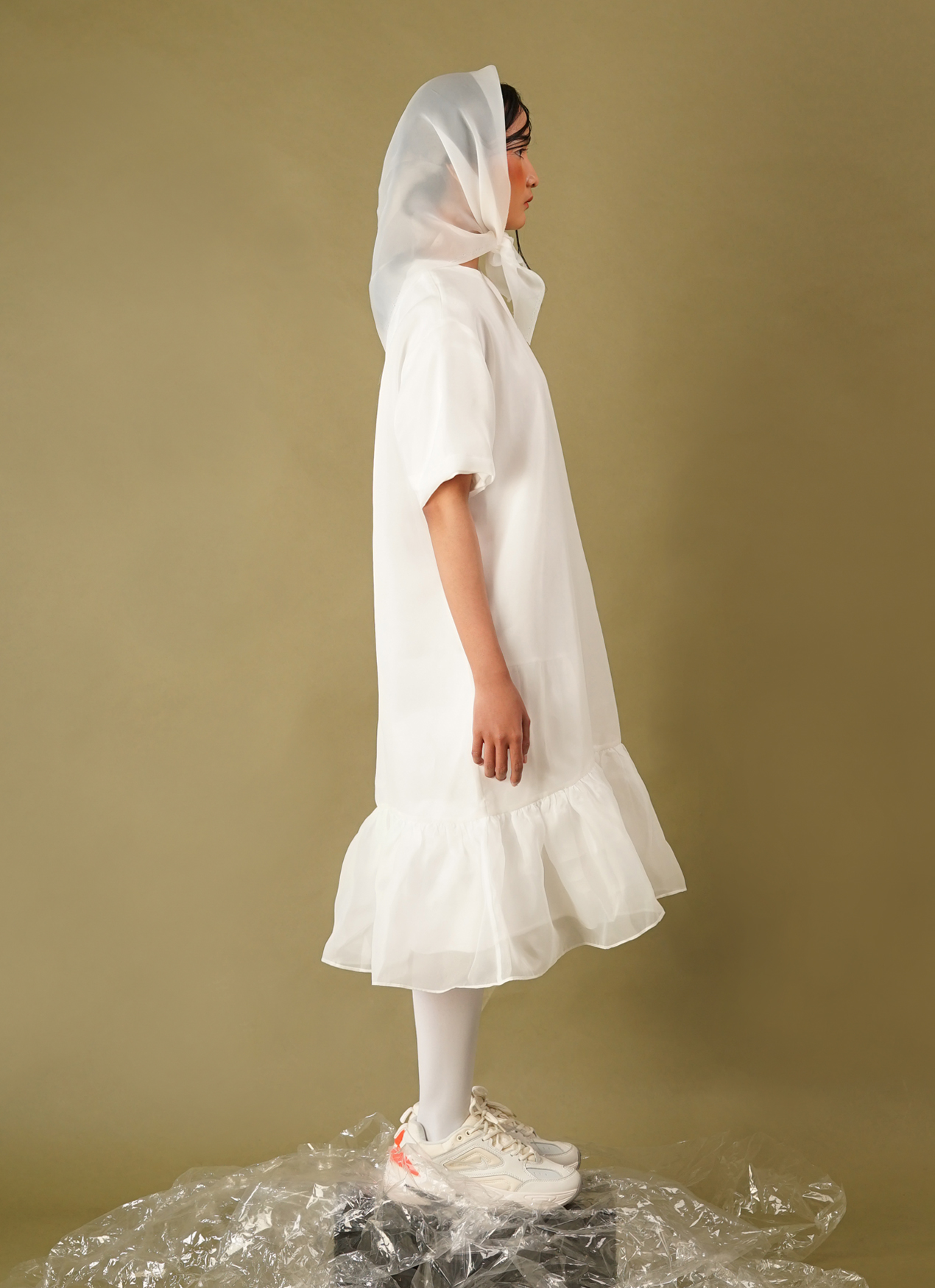 Satchel R003 Dress - White