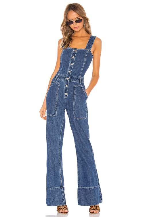 KENDALL + KYLIE Fashion Denim Jumpsuit