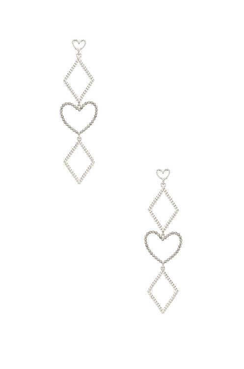 Luv Aj The Dotted Heart Statement Earrings