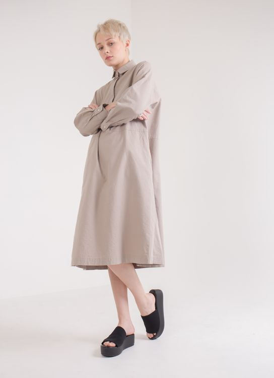 Earth, Music & Ecology Jasmine Dress - Gray Beige