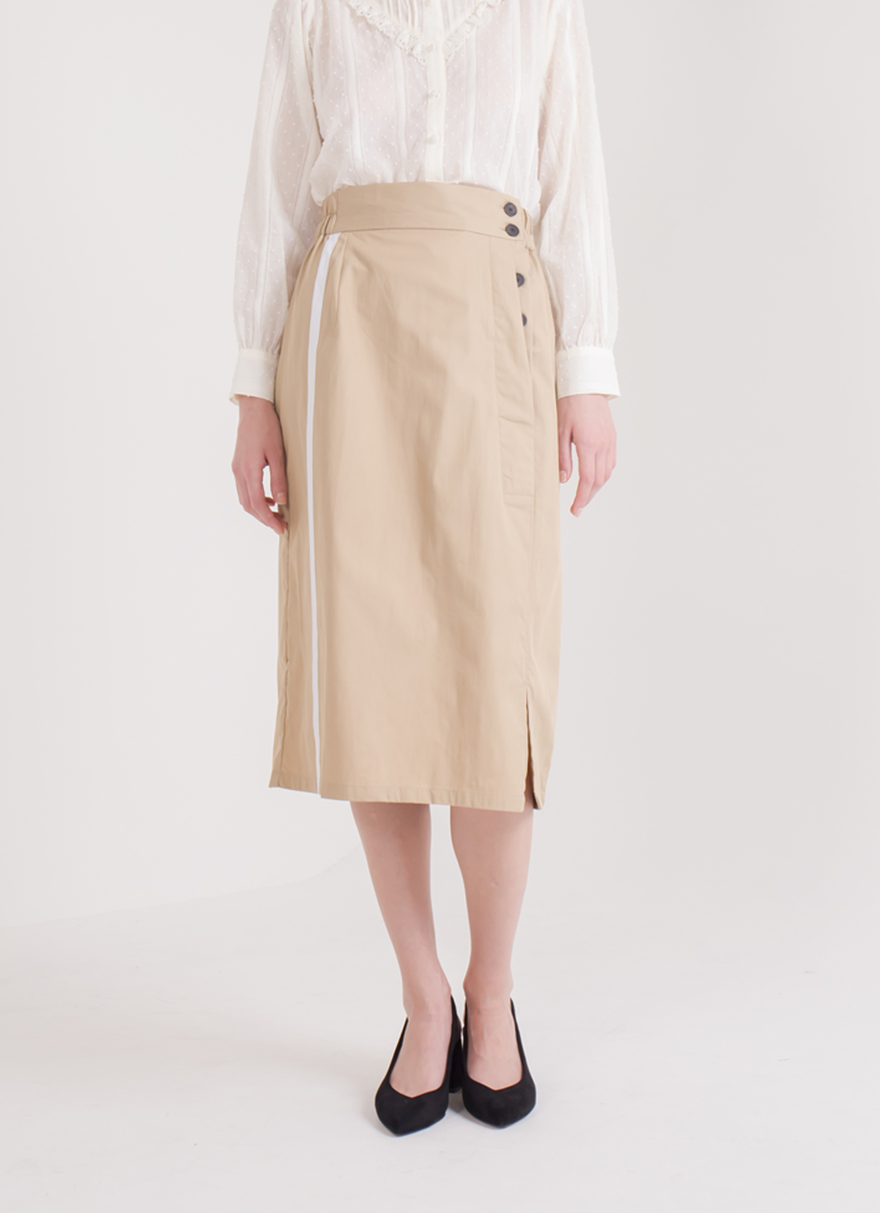 E-hyphen World Gallery Nora Skirt - Beige