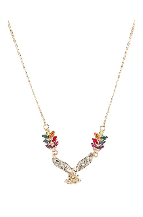 Anton Heunis Small Eagle & Tiny Leafs Necklace
