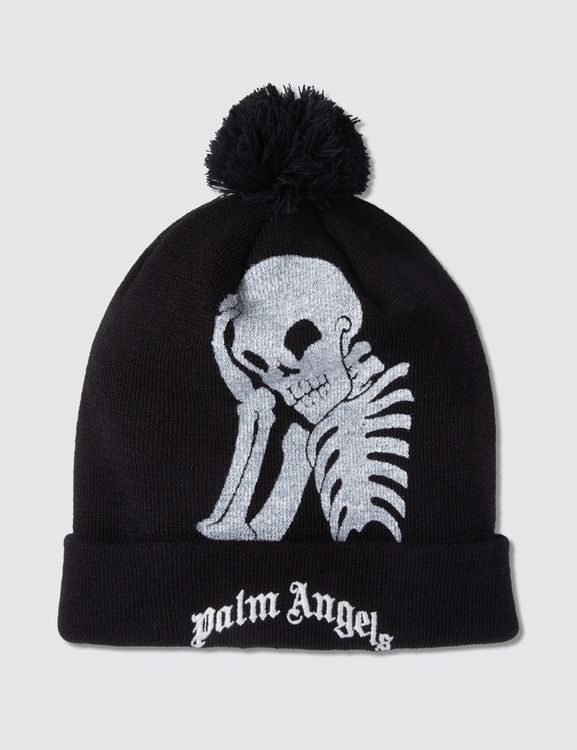 Palm Angels Thinking Skull Beanie