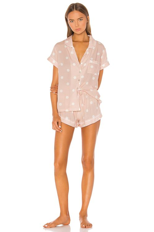 homebodii Polka Dot Short PJ Set