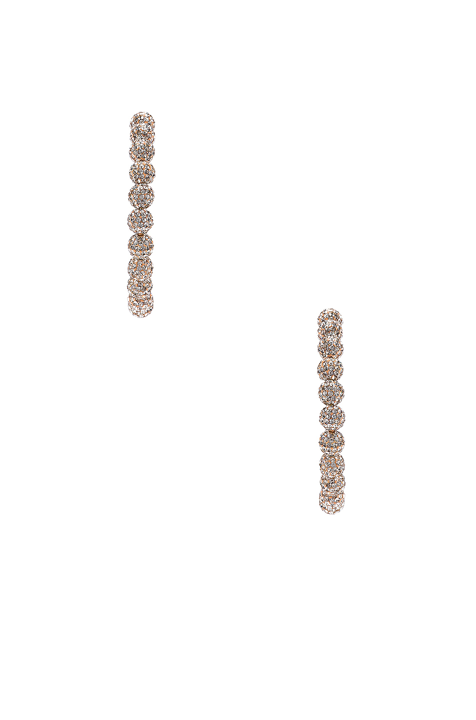 Lele Sadoughi Slim Stardust Hoop Earrings