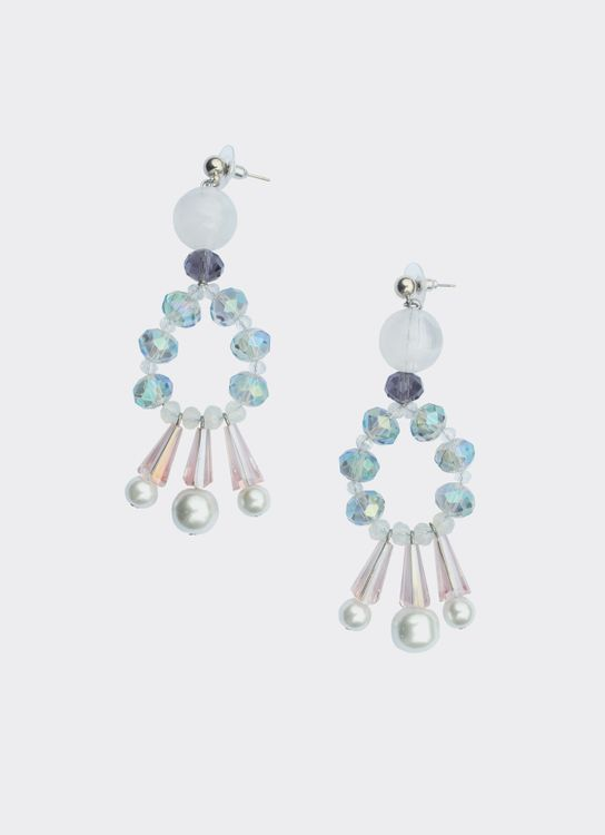 House of Jealouxy Anais Earrings - White & Pink