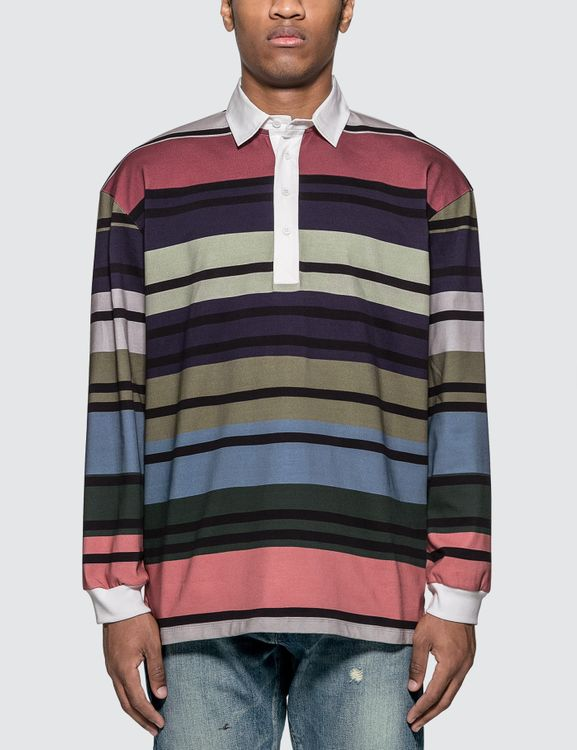 J.W.Anderson Striped Rugby Jersey Long Sleeve Polo Shirt